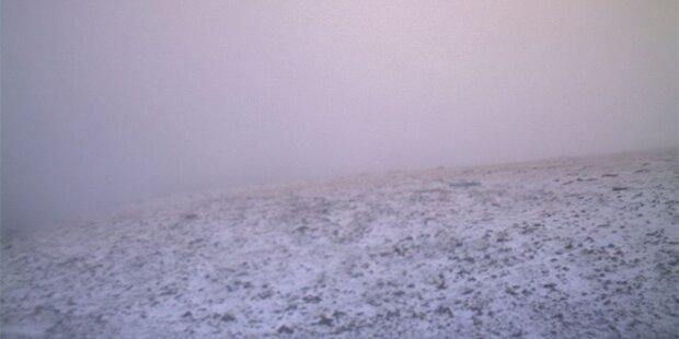 Schneefall in Griechenland