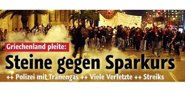 Gewaltsame Proteste in Athen