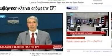 Griechen schließen staatlichen Rundfunk