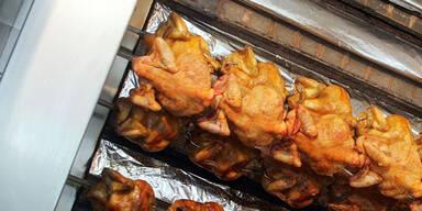 Einbrecher grillte Huhn auf der Veranda