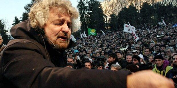 Satiriker Grillo feiert Wahl-Triumphe