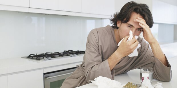 Influenza: Mit der Virus-Grippe geht's bergauf