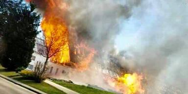 120 Feuerwehrmänner bei Großbrand im Einsatz