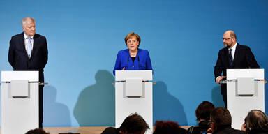 Seehofer Merkel Schulz