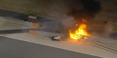 Schockmoment bei GP: F1-Bolide geht in Flammen auf!