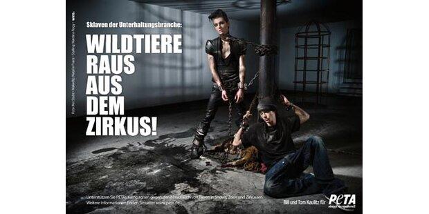Tokio-Hotel-Twins: Peta- Schock-Kampagne