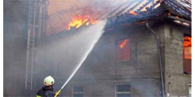 Zündelnde Kinder verursachen Großbrand in OÖ