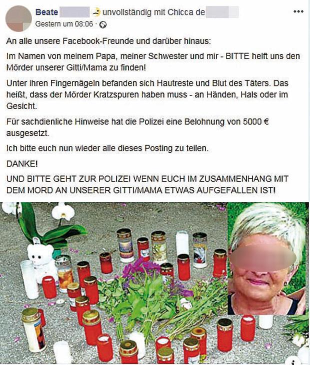 Mord Amstetten Filialleiterin Posting