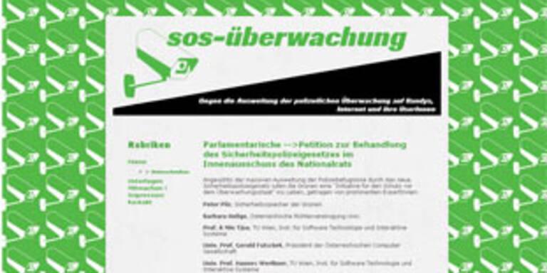 """Vorbild: die Online-Petition zum """"Überwachungsstaat"""""""
