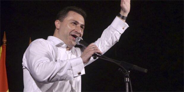 Premier Gruevski sichert sich Wahlsieg