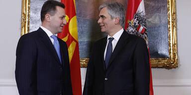Werner Faymann Gruevksi Mazedonien