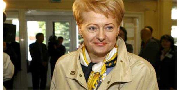 Grybauskaite neue Präsidentin Litauens