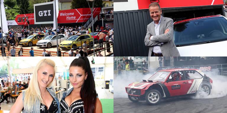 GTI-Treffen: VW-Chefs im Partygetümmel