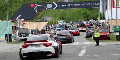 Illegales Autorennen bei GTI-Treffen am Wörthersee