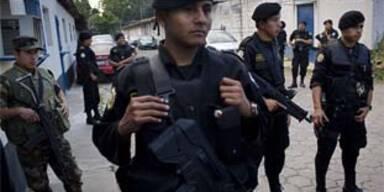 Sicherheitskräfte in Guatemala-Stadt
