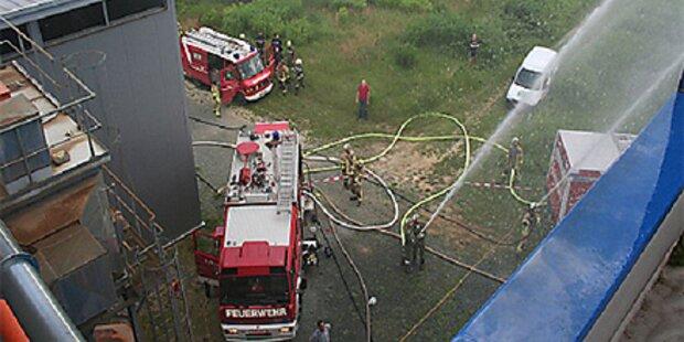 Biostrom-Anlage in Güssing brennt