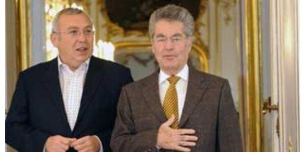 Bundespräsident empfing scheidenden Kanzler