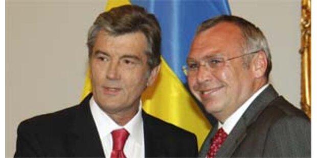 Gusenbauer empfing ukrainischen Präsidenten