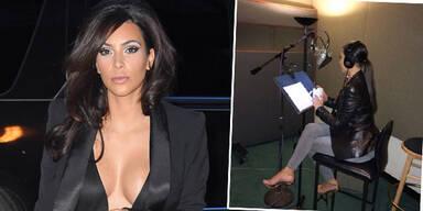 Kim Kardashian nimmt einen Song auf