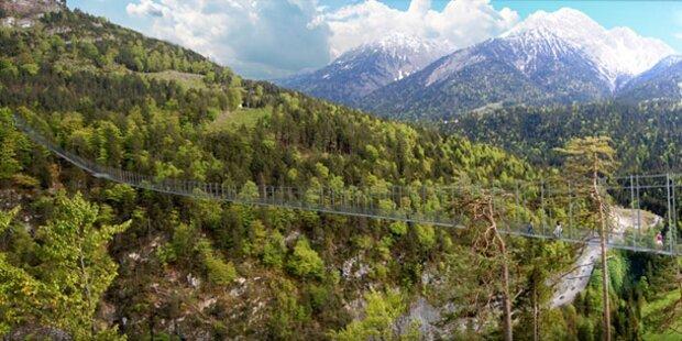 Längste Hängebrücke der Welt in Tirol