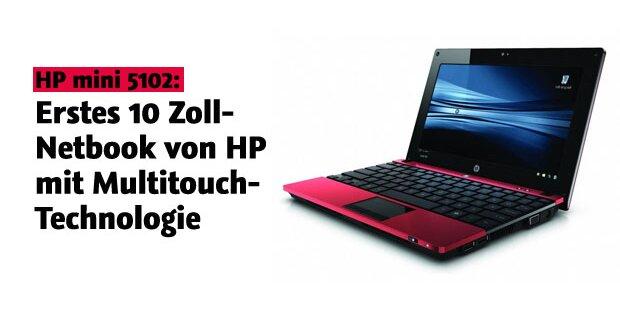 HP Netbook mit Multitouch-Technologie