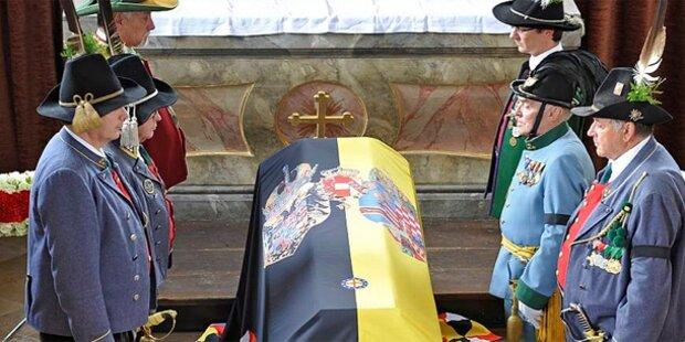 Habsburg: 1,2 Kilometer Trauerzug