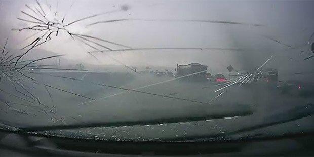 Chaos durch Hagel und Unwetter