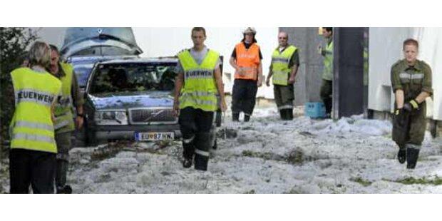 Dauerseinsatz für Feuerwehren wegen Unwetter