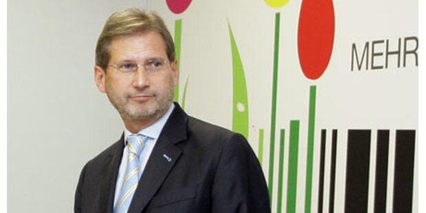 EU: Hahn bereit für Umwelt-Ressort