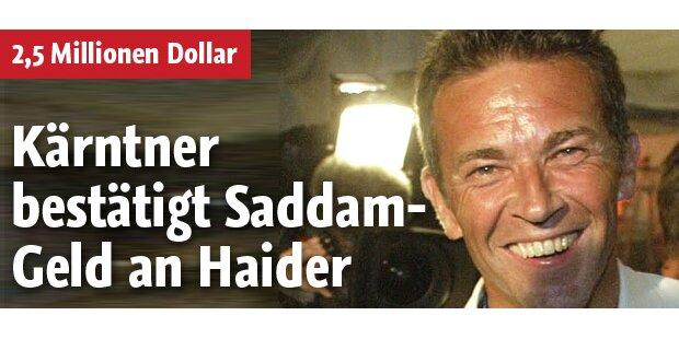 Kärntner bestätigt Saddam-Geld an Haider