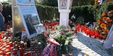 Gedenkfeier der FPK-Spitze an Unfallstelle