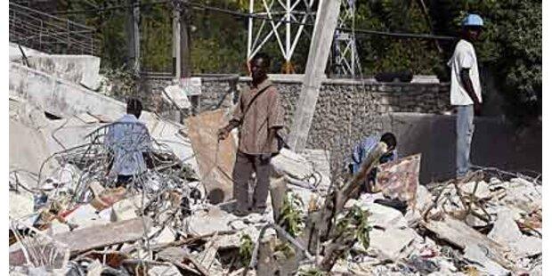 UN bezahlen in Haiti fürs Aufräumen
