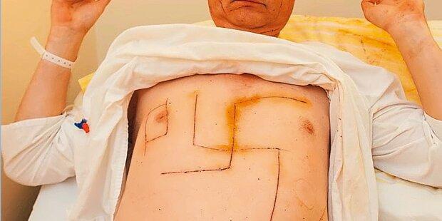 Überfall fingiert, Hakenkreuz in Brust geritzt: Urteil in NÖ