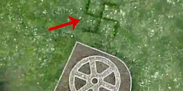 Mega-Hakenkreuz mit Google Maps entdeckt