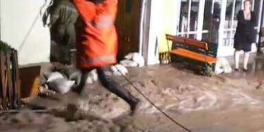Hallstatt: Wolkenbruch löste Mure aus