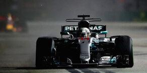 Hamilton gewinnt Chaos-Grand-Prix von Singapur