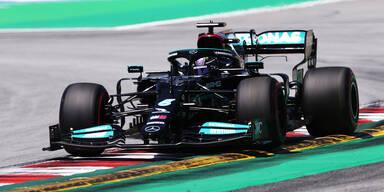 Lewis Hamilton in Barcelona
