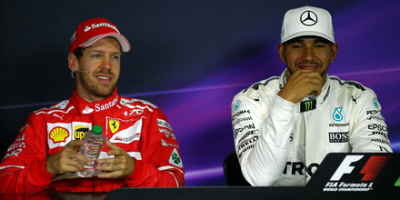 Fahrer-Meeting: Hamilton witzelt über Vettel