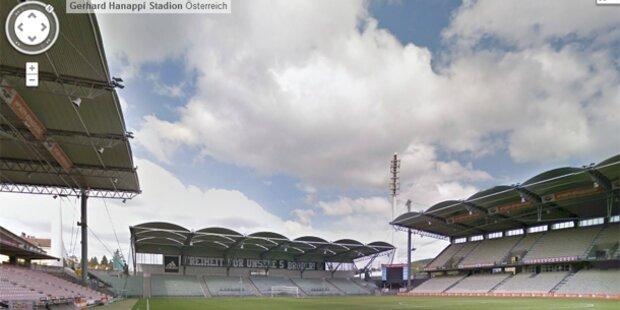 Mit Google Street View durchs Hanappi-Stadion