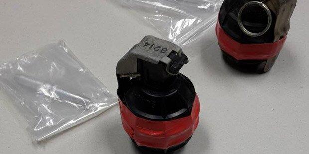 Handgranaten bei Wohnungssanierung entdeckt