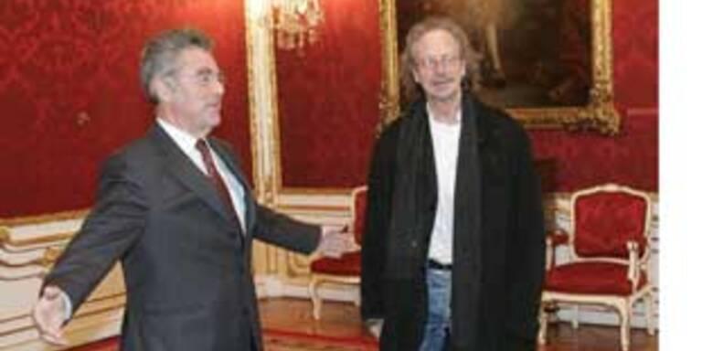 Peter Handke bei Präsident Fischer