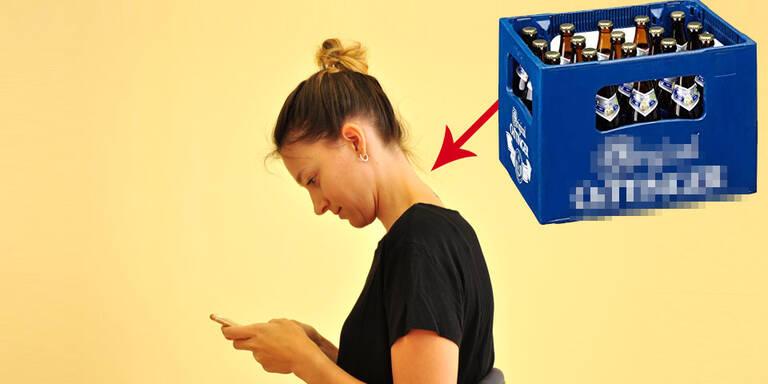 Handy so schädlich wie volle Bierkiste am Nacken