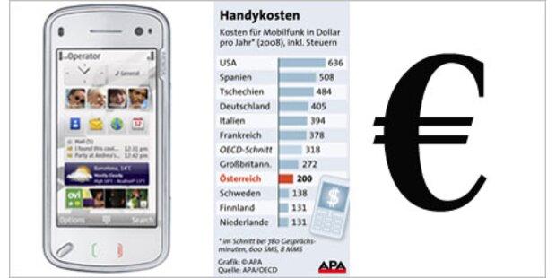 Handytelefonate in Österreich günstig