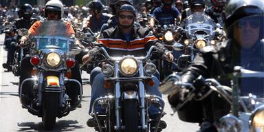 Erstes Harley-Davidson Treffen in Wien