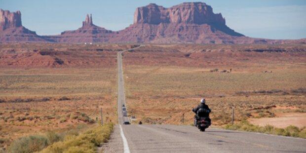 Mit der Harley auf dem Highway Number 1