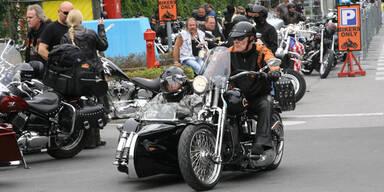Start für das Harley-Treffen am Faaker See