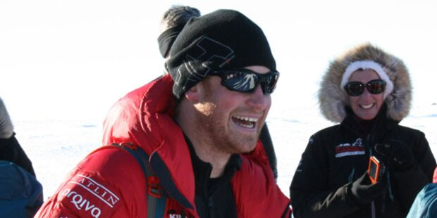 Harrys Team führt bei Südpol-Expedition