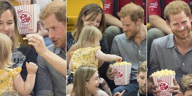 Prinz Harry: Zweijährige klaut sein Popcorn