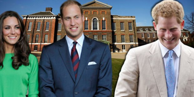 Prinz Harry wohnt jetzt bei Kate & William
