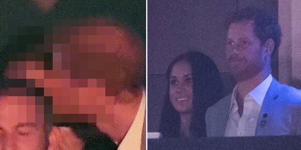Harry & Meghan: Sie küssen sich vor allen